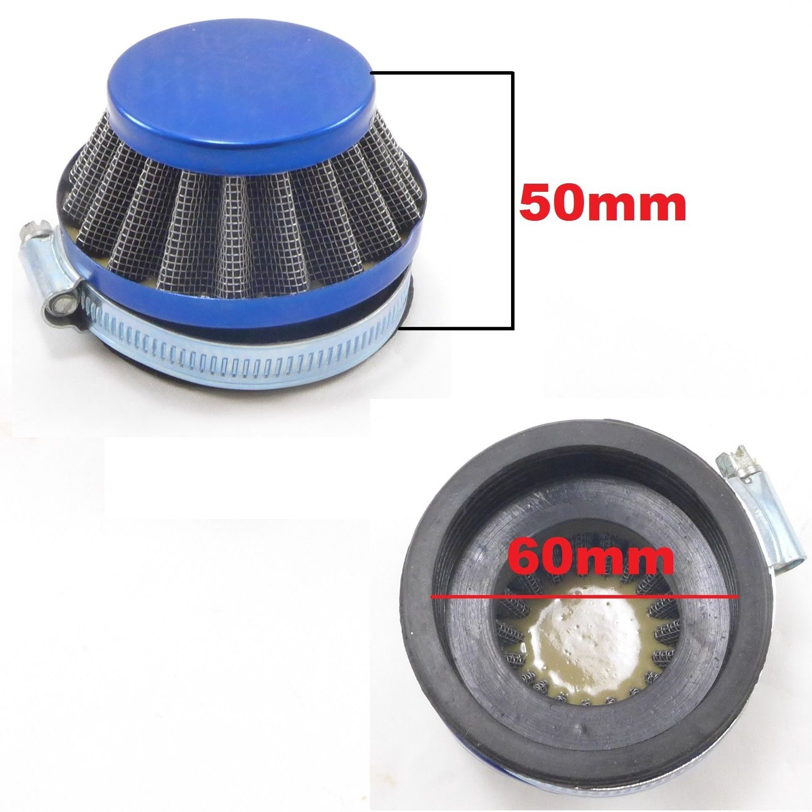 Snowmobile Air Filters : High performance air filter mm element assorted colors